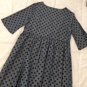 lake flower Dresses - NEW Polka Dot Chambray Dress